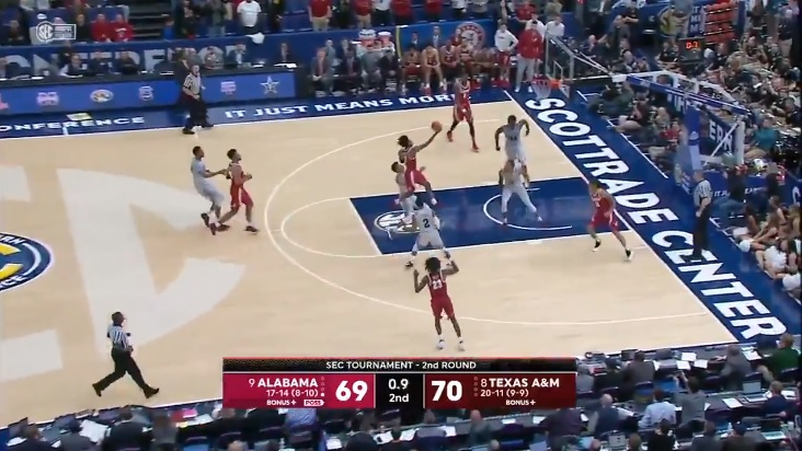 Collin Sexton hits buzzer-beater that could push 'Bama into tourney