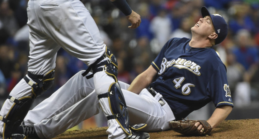 Brewers' Knebel suffers hamstring injury; DL imminent