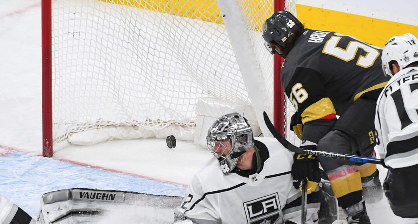 Fleury, Knights beat Kings 1-0 in Vegas' 1st playoff game