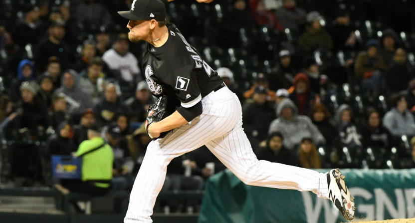 White Sox reliever Danny Farquhar passes out in dugout
