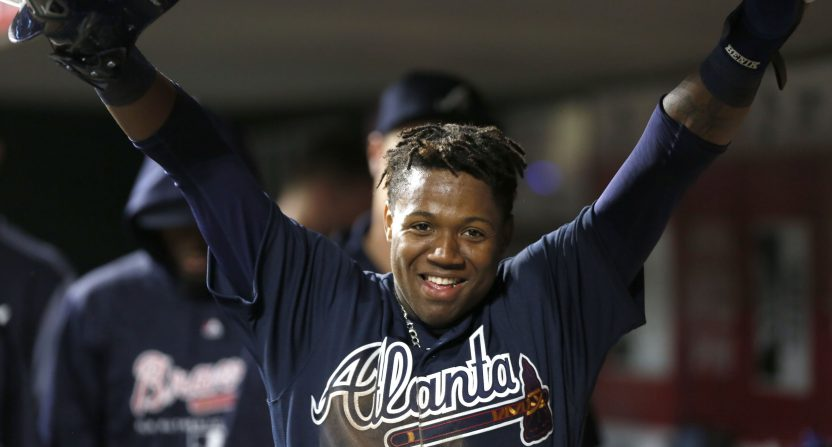Ronald Acuña hits first big league homer