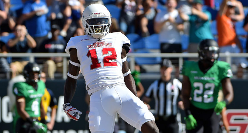 Former Last Chance U star John Franklin III plays for Florida Atlantic in a Dec. 2, 2017 game.