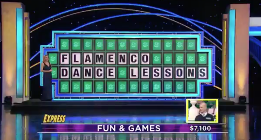 Here's what happened when a Wheel of Fortune contestant said 'flamenco' wrong