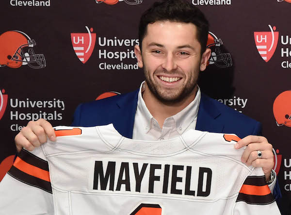 Patriots were prepared to trade up for Mayfield at No. 2