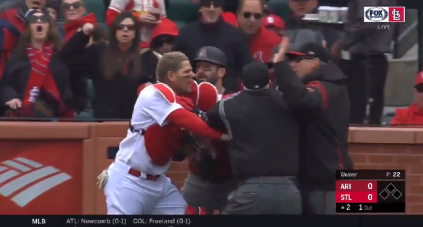 Yadier Molina, Torey Lovullo Suspended 1 Game for Cardinals-D-Backs Altercation