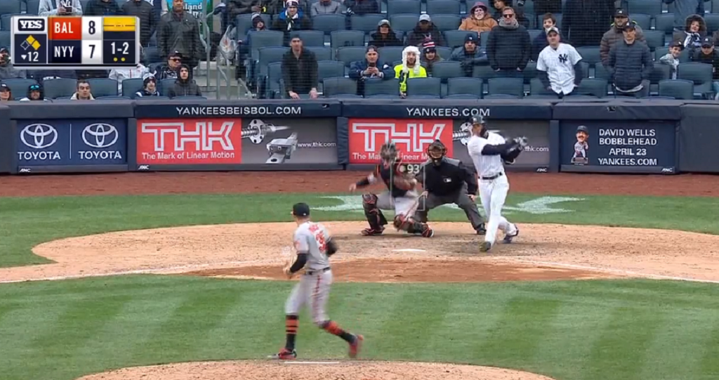Giancarlo Stanton strikes out to end Yankees' game for his 2nd platinum sombrero of the season ...