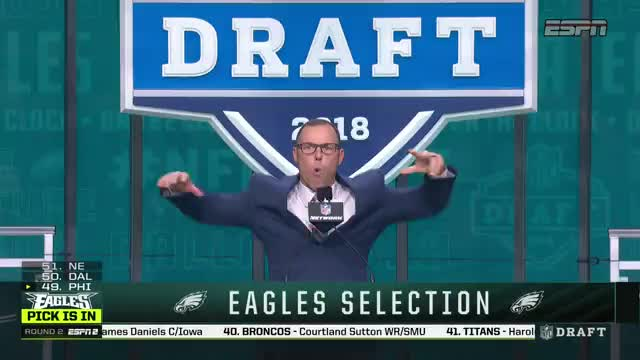 The Eagles drafted a player who hasn't played a down of football