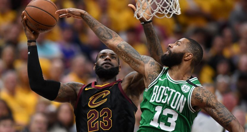 LeBron dominates Celtics to stay alive