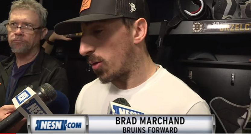 Brad Marchand at an exit interview.