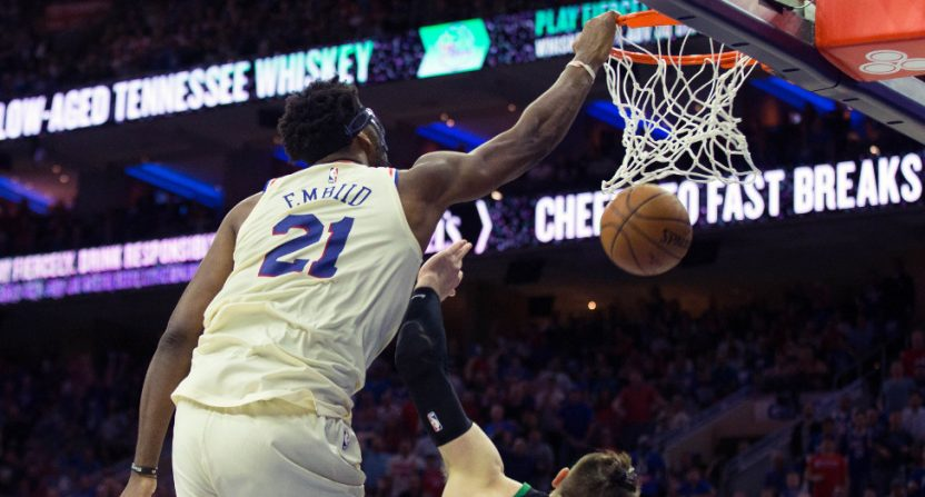 Joel Embiid and Terry Rozier get technical fouls after skirmish