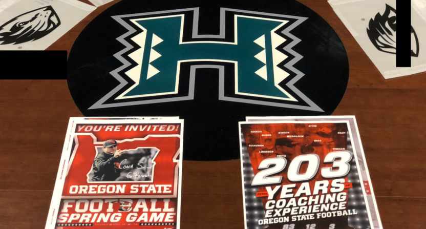 Hawaii coach rips Oregon State for trying to recruit his players