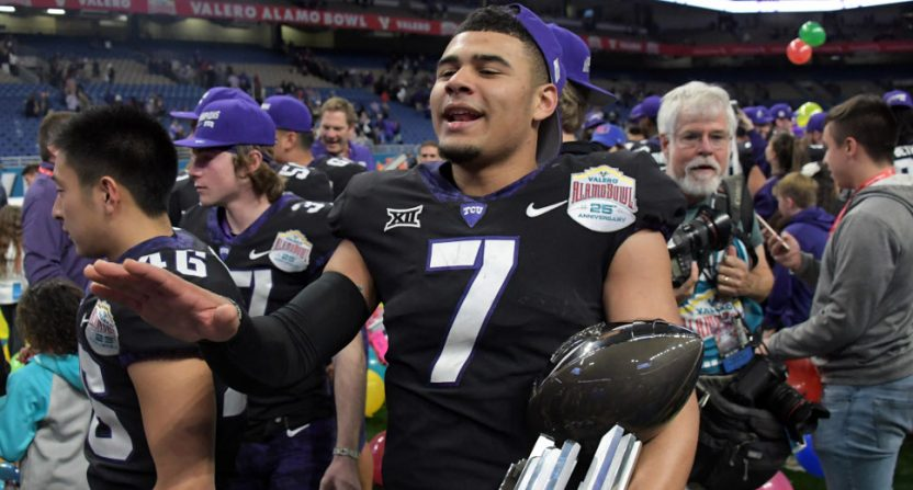 Kenny Hill at the 2018 Alamo Bowl.