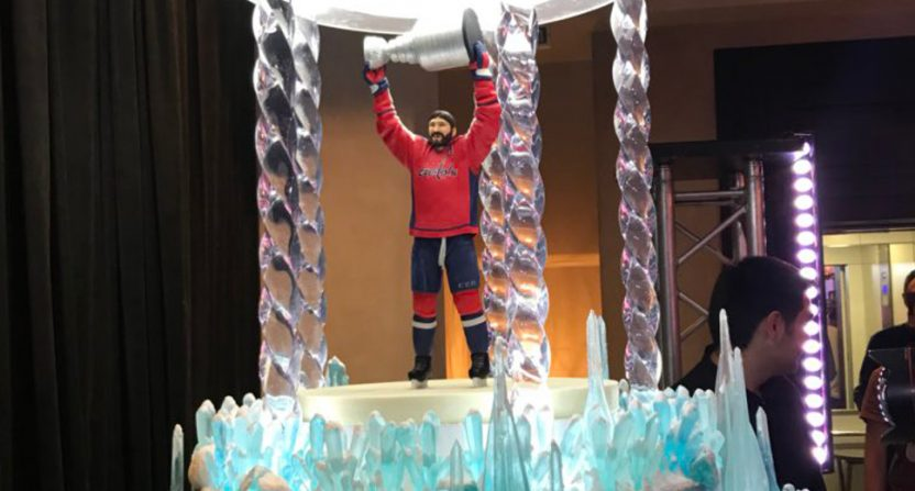 Alex Ovechkin's Stanley Cup cake.
