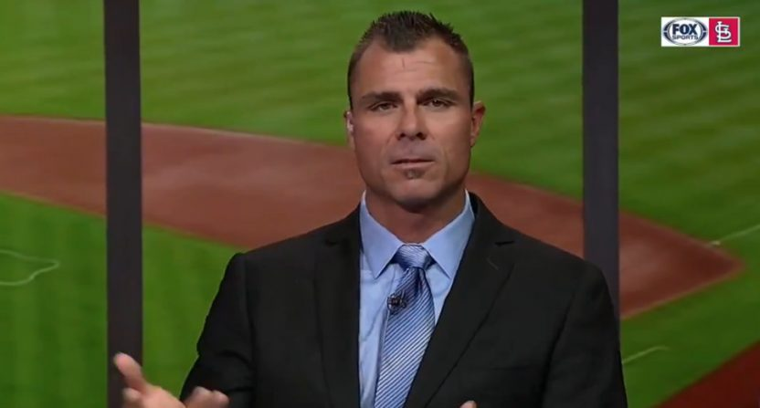 Rick Ankiel announcing a comeback on Fox Sports Midwest.