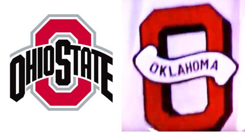 Ohio State and Oklahoma's Block Os.