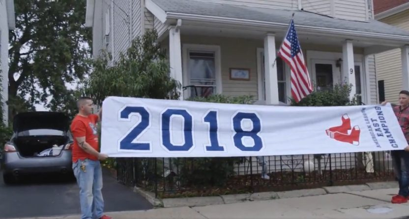 Boston locals return Red Sox banner, get nothing in return