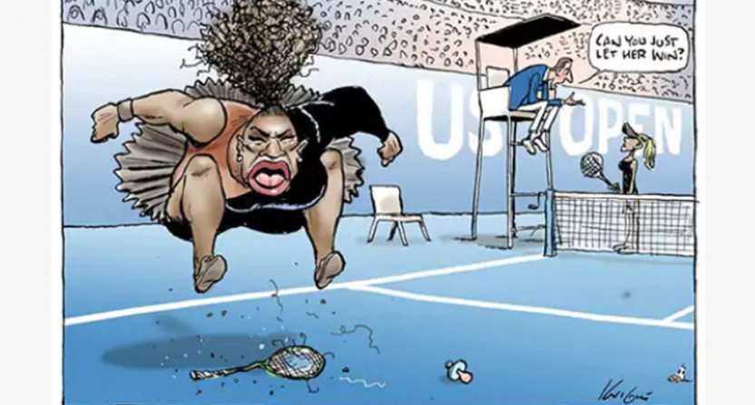 Aussie cartoonist slammed over 'racist' portrayal of Serena Williams