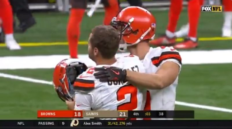 Zane Gonzalez's kicking woes cost Browns again in close loss to Saints