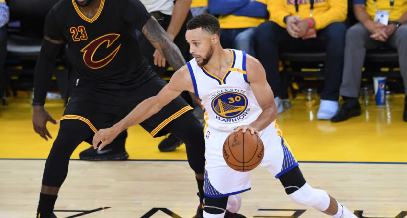 Stephen Curry says he wasn't making fun of LeBron James