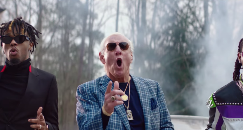 Savage, Offset, and Ric Flair teamed up for a new music video