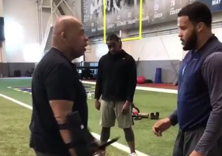 Here's Insane Video of Aaron Donald Training With Knives