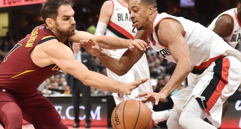 C.J. McCollum says that this version of the Cavaliers is one of the worst defensive teams he's ...