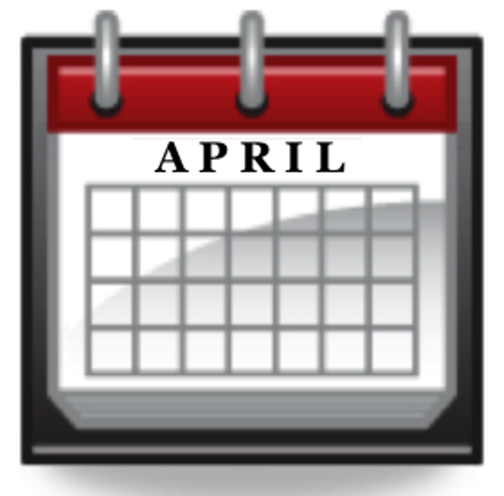 Image result for april calendar clipart