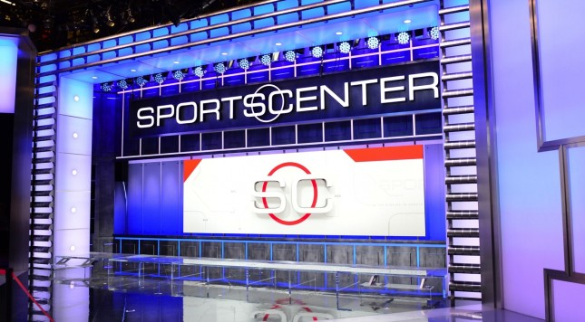 One of the SportsCenter video walls
