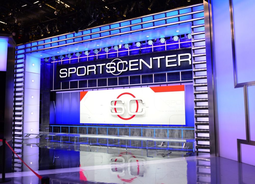 The SportsCenter set.