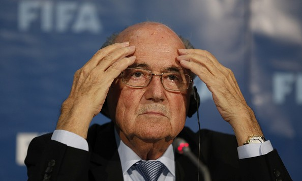 MARRAKECH, MOROCCO - DECEMBER 19: The FIFA President Joseph S Blatter talks to the media during a FIFA press conference at the Sofitel Marrekch on December 19, 2014 in Marrakech, Morocco.  (Photo by Steve Bardens/Getty Images)
