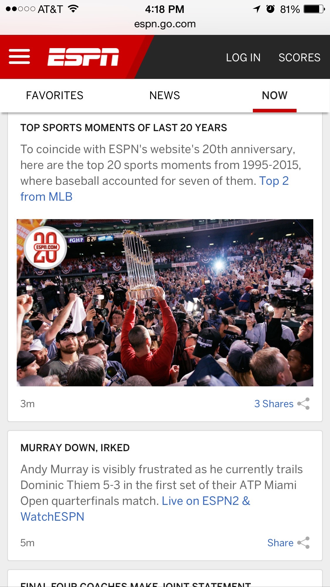 The new ESPN.com has launched