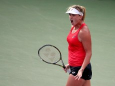 NEW YORK, NY - AUGUST 31:  Coco Vandeweghe of the United States reacts after defeating Sloane Stephens of the United States in their Women's Singles First Round match on Day One of the 2015 US Open at the USTA Billie Jean King National Tennis Center on August 31, 2015 in the Flushing neighborhood of the Queens borough of New York City.  (Photo by Streeter Lecka/Getty Images)