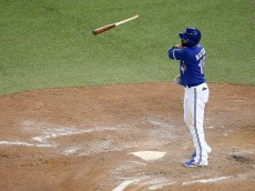 in game five of the American League Division Series at Rogers Centre on October 14, 2015 in Toronto, Canada.