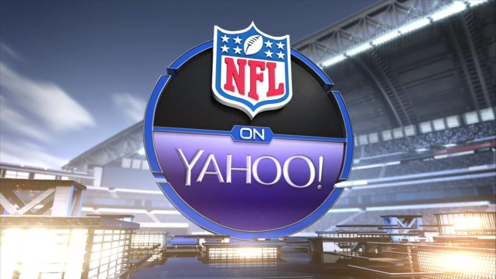 The 2015 NFL on Yahoo logo.