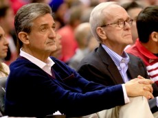 WASHINGTON, DC - MAY 15: Ted Leonsis, owner of the Washington Wizards, watches as his team plays the Indiana Pacers during Game Six of the Eastern Conference Semifinals during the 2014 NBA Playoffs at Verizon Center on May 15, 2014 in Washington, DC. NOTE TO USER: User expressly acknowledges and agrees that, by downloading and or using this photograph, User is consenting to the terms and conditions of the Getty Images License Agreement.  (Photo by Rob Carr/Getty Images)