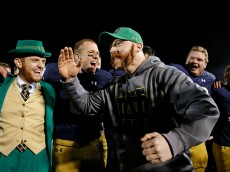 <> at Notre Dame Stadium on November 14, 2015 in South Bend, Indiana.