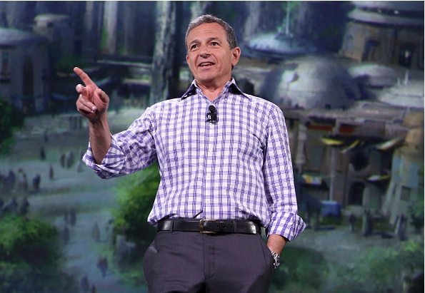 ANAHEIM, CA - AUGUST 15: The Walt Disney Company Chairman and CEO Bob Iger took part today in 'Worlds, Galaxies, and Universes: Live Action at The Walt Disney Studios' presentation at Disney's D23 EXPO 2015 in Anaheim, Calif. (Photo by Jesse Grant/Getty Images for Disney)