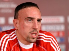 AGADIR, MOROCCO - DECEMBER 15:  Franck Ribery looks on during a Bayern Muenchen press conference for the FIFA Club World Cup at Agadir Stadium on December 15, 2013 in Agadir, Morocco.  (Photo by Lars Baron/Getty Images)