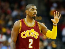 HOUSTON, TX - JANUARY 15:  Kyrie Irving #2 of the Cleveland Cavaliers walks across the court during their game against the Houston Rockets at the Toyota Center on January 15, 2016  in Houston, Texas. NOTE TO USER: User expressly acknowledges and agrees that, by downloading and or using this Photograph, user is consenting to the terms and conditions of the Getty Images License Agreement.  (Photo by Scott Halleran/Getty Images)