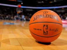 DENVER - OCTOBER 28:  An official NBA game ball lies on the court ready for action prior to the game as the Denver Nuggets face the Utah Jazz during NBA action at Pepsi Center on October 28, 2009 in Denver, Colorado. The Nuggets defeated the Jazz 114-105.  (Photo by Doug Pensinger/Getty Images)