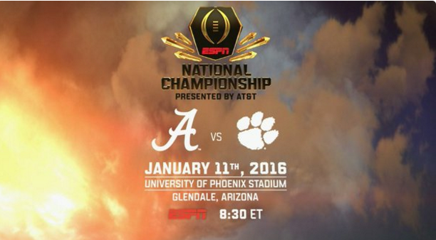 what time is the national championship game tonight college football championship game