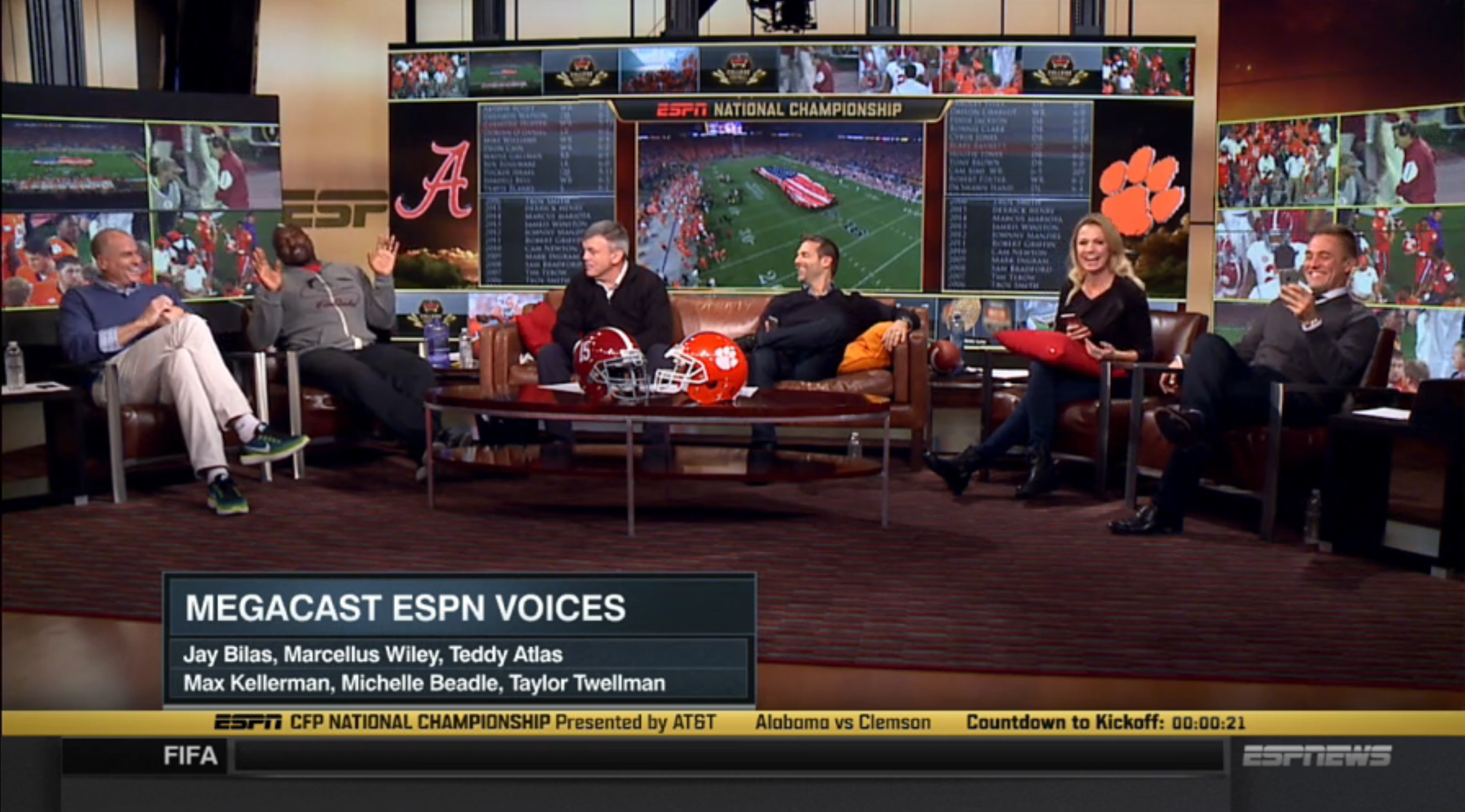 Kickoff time for national championship game - Espn Voices 01