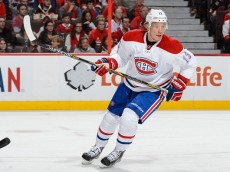 OTTAWA, ON - OCTOBER 11:  Alexander Semin #13 of the Montreal Canadiens skates during the NHL game against the Ottawa Senators at Canadian Tire Centre on October 11, 2015 in Ottawa, Ontario, Canada.  The Montreal Canadiens defeated the Ottawa Senators 3-1.  (Photo by Minas Panagiotakis/Getty Images)