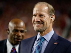GLENDALE, AZ - DECEMBER 10:  (R-L) CBS analyst Bill Cowher and Deion Sanders on the sidelines during the NFL game between the Arizona Cardinals and the Minnesota Vikings at the University of Phoenix Stadium on December 10, 2015 in Glendale, Arizona.  (Photo by Christian Petersen/Getty Images)