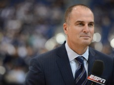 Hartford, CT - January 14, 2013 - XL Center: Jay Bilas during a regular season game.(Photo by Joe Faraoni / ESPN Images)