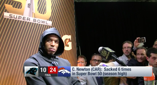 Cam Newton's memorable post-Super Bowl interview