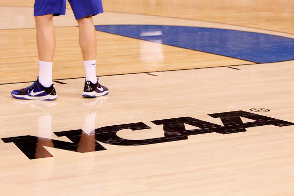 INDIANAPOLIS - APRIL 02:  A detail picture of a Duke Blue Devils player during practice prior to the 2010 Final Four of the NCAA Division I Men's Basketball Tournament at Lucas Oil Stadium on April 2, 2010 in Indianapolis, Indiana.  (Photo by Kevin C. Cox/Getty Images)
