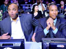 LOS ANGELES, CA - FEBRUARY 19:  Former NBA players Charles Barkley and Reggie Miller, now both analyst for TNT, sit courtside during NBA All-Star Saturday night presented by State Farm at Staples Center on February 19, 2011 in Los Angeles, California.  NOTE TO USER: User expressly acknowledges and agrees that, by downloading and or using this Photograph, user is consenting to the terms and conditions of the Getty Images License Agreement. (Photo by Kevork Djansezian/Getty Images)