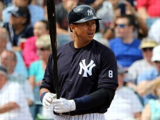 TAMPA, FL- MARCH 05:  Alex Rodriguez #13 of the New York Yankees at bat in the third inning during the game against the Boston Red Sox at George M. Steinbrenner Field on March 5, 2016 in Tampa, Florida.  (Photo by Justin K. Aller/Getty Images)