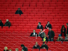 LONDON, ENGLAND - NOVEMBER 15:  Empty seats are seen in the stands during the international friendly match between England and Sweden at Wembley Stadium on November 15, 2011 in London, England.  (Photo by Julian Finney/Getty Images)